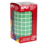 Gomets cuadrados 10x10 mm color Verde Apli ref 4874