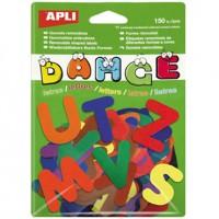 Gomets escolar pre-cortados -letras a-z removible bolsa de 150 gomets.
