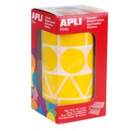 Gomets autoadhesivos Figuras Geométricas color Amarillo
