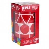Gomets autoadhesivos Figuras Geométricas color Rojo