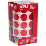Gomets circulares 20 mm color Rojo Apli Ref 4861
