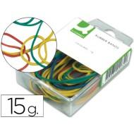 Gomillas elasticas colores q-connect -caja de 15 gr