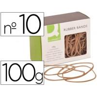 Gomillas elasticas q-connect 100 gr numero 10  100x2 mm