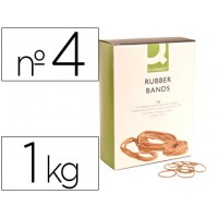 Gomillas elasticas q-connect 1000 gr numero 4  40x2 mm