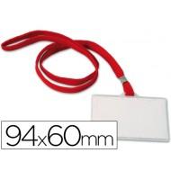 Identificador con cordon plano q-connect 94x60 mm -con apertura lateral