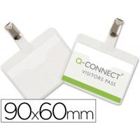 Identificador con pinza q-connect kf01560 60x90 mm -con apertura superior
