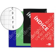Bloc indice liderpapel tapa cartoncillo cuarto 24 hojas 70g/m2 colores surtidos