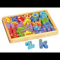Juego didáctico de madera Caja con Letras
