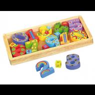Juego didáctico de madera Caja con Números