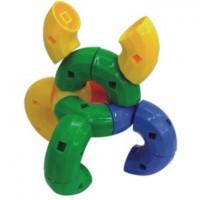 Maletín de 80 piezas de figuras curvas de plástico