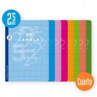 Libreta Grapada Lamela Tamaño Cuarto Cuadrovia 2.5mm 50 Hojas 06C002