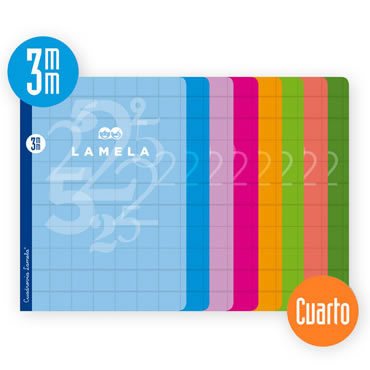 Libreta Grapada Lamela Tamaño Cuarto Cuadrovia 3mm 50 Hojas 06C003