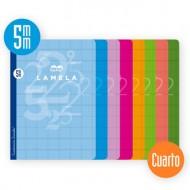 Libreta Grapada Lamela Tamaño Cuarto Cuadrovia 5mm 50 Hojas 06C005