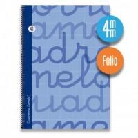 Cuaderno Espiral Lamela Tamaño Folio cuadrovía 4mm 80 hojas Tapa Blanda 07F004