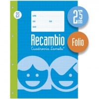 Recambio Lamela Tamaño Folio Cuadrovia 2.5mm 100 Hojas 09002