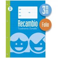 Recambio Lamela Tamaño Folio Cuadrovia 3mm 100 Hojas 09003