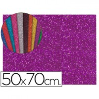 Goma eva con purpurina color morado 50x70
