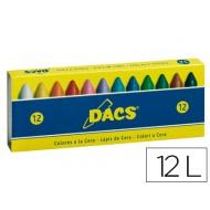 Lapices cera dacs caja de 12 colores