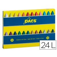 Lapices cera dacs caja de 24 colores