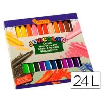 Lapices cera jovicolor -caja de 24 colores
