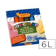 Lapices cera jovicolor -caja de 6 colores