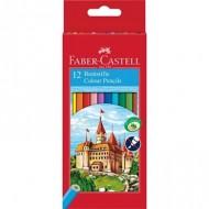 Lapices de colores faber-castell 12 colores hexagonal madera reforestada.