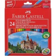 Lapices de colores faber-castell 24 colores hexagonal madera reforestada.