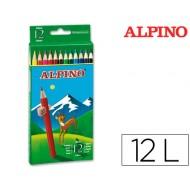 Lapices de colores alpino 654 c/ de 12 colores largos
