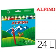 Lapices de colores alpino 24 colores largos