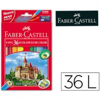 Lapices de colores faber-castell 36 colores hexagonal madera reforestada.