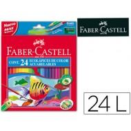 Lapices de colores faber-castell acuarelables c/ 24 surtidos