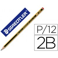 Lapices de grafito staedtler noris n.0 2b unidad