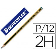 Lapices de grafito staedtler noris n.4 2h unidad