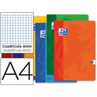 Libreta escolar oxford 48 h din a4 cuadro 4 mm