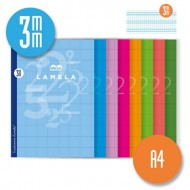 Libreta Grapada Lamela Tamaño A4 Cuadrovia 3mm 50 hojas 06A4003