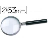 Lupa cristal aro metalico mango negro w-103 63 mm