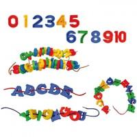 Maletín de 130 letras de plástico ensartables