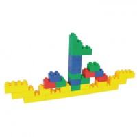 Maletín de 80 piezas de figuras de plástico en forma de ladrillo