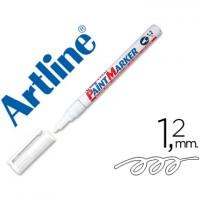 Rotulador artline marcador permanente blanco -punta redonda 1.2 mm -metal caucho y plastico.