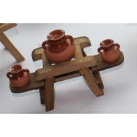 Mesa con 3 vasijas decoración Cocinas 10x10 cm