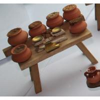 Mesa con tarros de especias Portal de Belén 13x9 cm