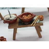 Mesa Preparación Rosquillas Portal de Belén 15x9 cm