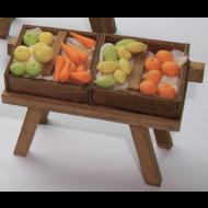Mesa con Frutas y Verduras 15x10 cm