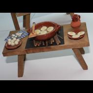 Mesa Freir Huevos 15x9 cm