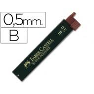 Minas faber grafito 9065 0,5 mm b -estuche de 12 minas