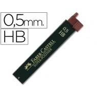 Minas faber grafito 9065 0,5 mm hb -estuche de 12 minas