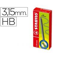 Minas stabilo easy ergo grafito hb de 3,15 mm -cajita de 6 minas