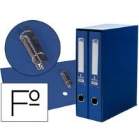 Modulo liderpapel 2 archivadores folio 2 anillas mixtas 75mm azul.
