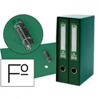 Modulo liderpapel 2 archivadores folio 2 anillas mixtas 75mm verde.
