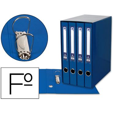 Modulo liderpapel 4 archivadores folio 2 anillas mixtas 25mm azul.